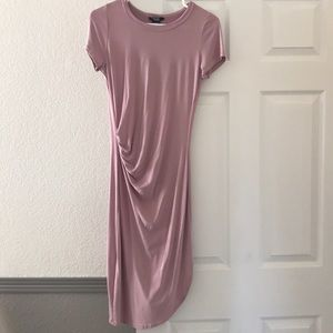 Dress with side rouching